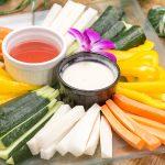 彩り野菜のスティック ディップ添え